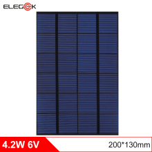 ELEGEEK 4W 6V 200*130mm DIY Solar Cell Panel 660mAh Monocrystalline PET + EVA Laminated Mini Solar Panel for Test and Education цена