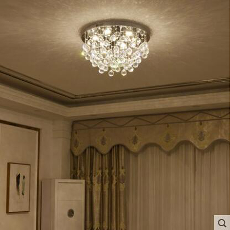 Crystal led ceiling lamp living room lamp modern minimalist bedroom room remote control lamps round luxury crystal lighting LED modern simple oval bedroom lighting living room crystal ceiling lamp creative restaurant dining room led crystal hanging lamps