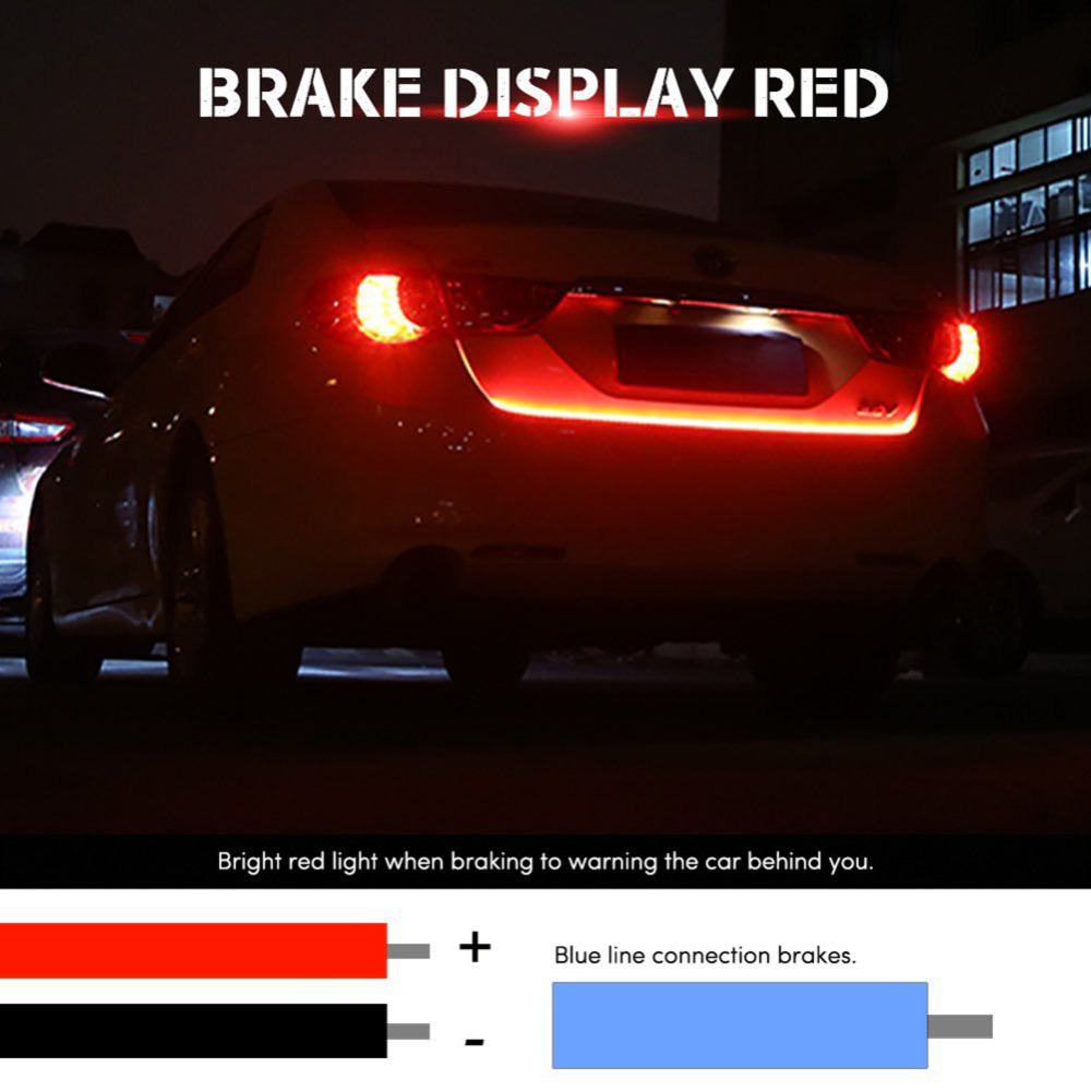 RGB Undercarriage Floating Led Dynamic Streamer Turn Signal Tail LED Warning Lights Luggage Compartment Lights Car Styling