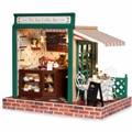 Miniatura de móveis casa de bonecas diy casas de boneca em miniatura casa de bonecas de madeira feitos à mão grownups brinquedos para crianças presente de aniversário Z05