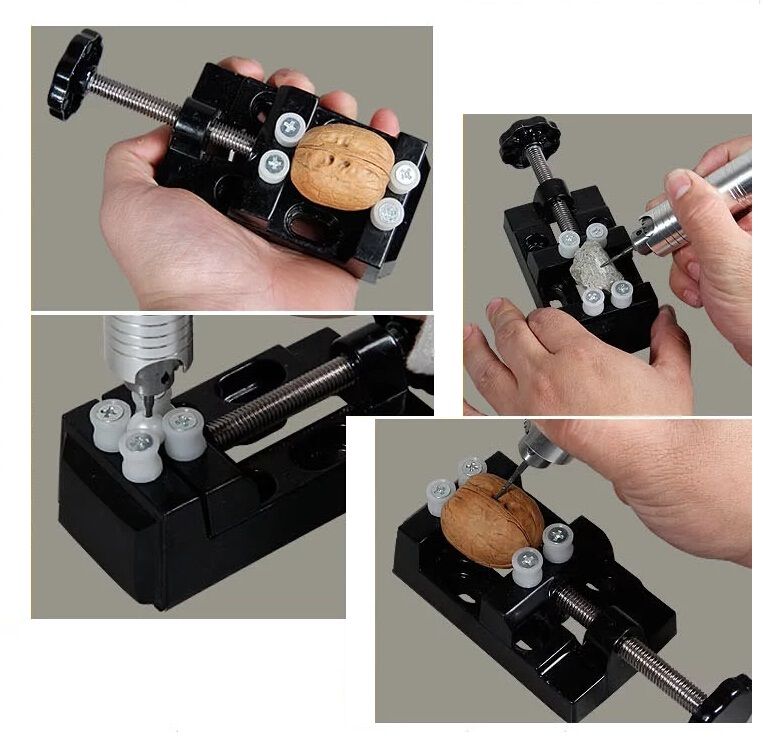 Free Shipping Multi-function Mini Vise Workbench Precision Clamping Tool Fixture Kits Autograph Nuclear Carving Drilling Jig