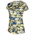 2015 nuevo verano caliente venta Womens 3D Minions camiseta de dibujos animados manga corta marca camisetas Tops para mujer de moda Minions algodón camiseta