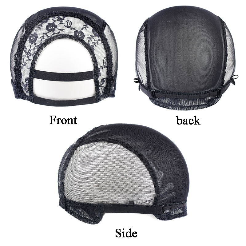 U Part Wig Caps With Lace Net For Making Wigs With Adjustable Straps 1pcs/lot Glueless Wig Caps For Making Wigs