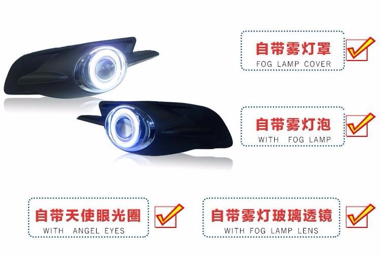 eOsuns COB angel eye led daytime running light DRL + halogen Fog Light + Projector Lens for ford mondeo 2005 2006 2007 led drl daytime running light cob angel eye 5 colors projector lens halogen fog lamp for volkswagen vw golf 6 mk6