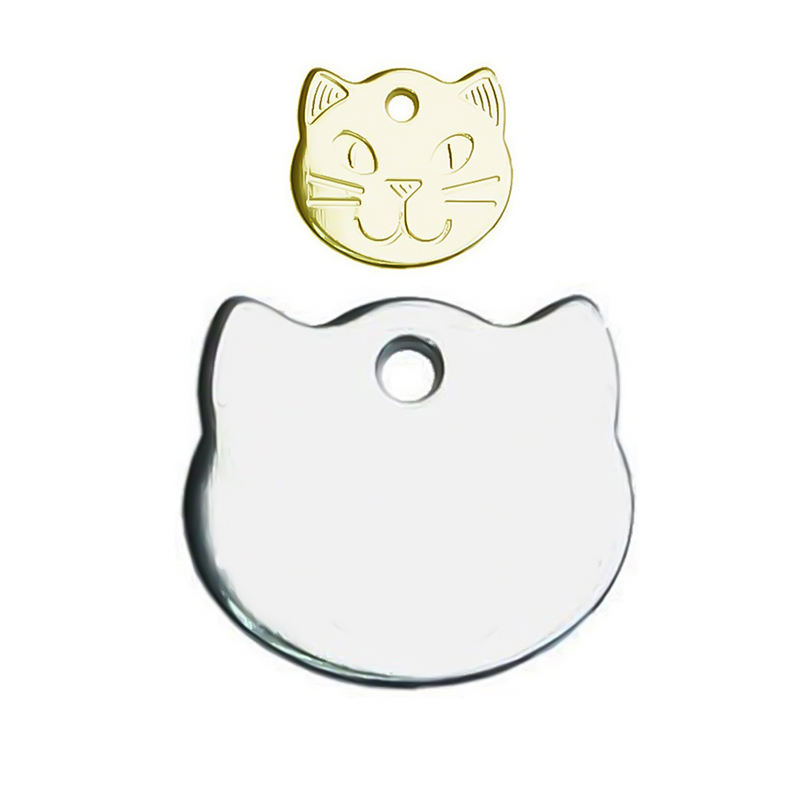 Cat Name Tag Anti-lost Stainless Steel Cat Tag Pet Collar ID Tags Kitten Should Engrave By Yourselves image