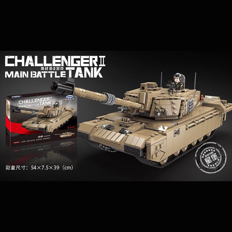 XINGBAO 06033 Military Series Challenger 2 Tank Building Blocks Bricks Toys for Children Kids Educational Gifts