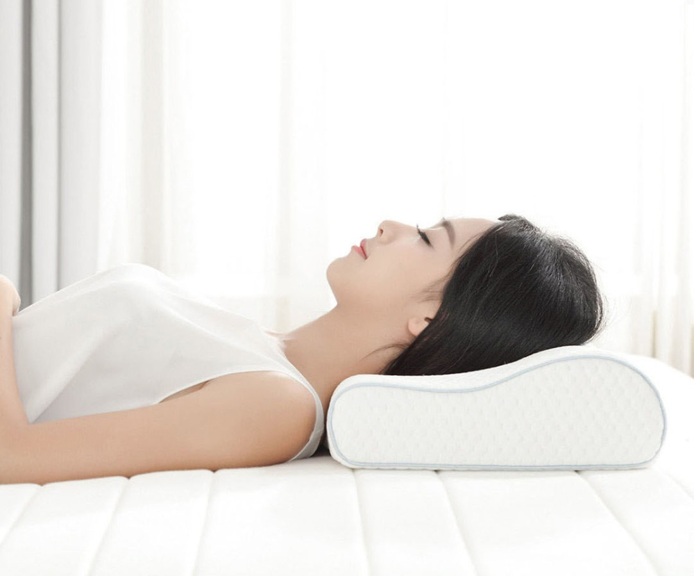 Xiaomi 8H H1 Cool Flexible Memory Cotton Pillow Anti bacteria Slow Re bouncing Three Curved Design