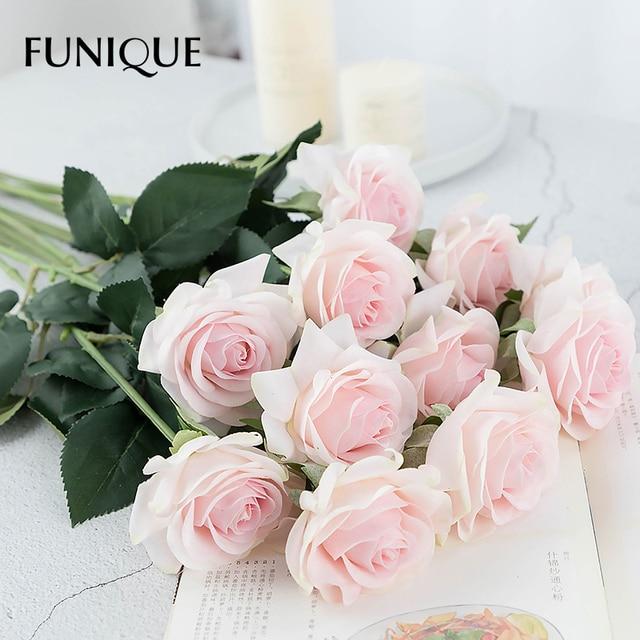 FUNIQUE 1Piece Artificial Flowers Fresh Rose Wedding Decorations ...