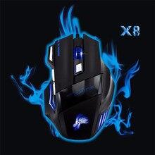 Realibale souris gaming souris 5500 DPI 7 Bouton LED Optique USB Filaire Gaming Mouse Pour Pro Gamer