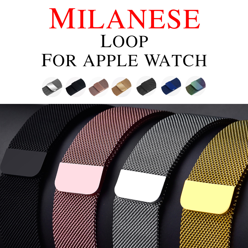 Milanese Loop Band For Apple watch Series 4 44mm 40mm Stainless Steel Strap For iWatch Series 4  Series 123  42mm 38mm
