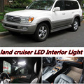 6 X Error Free Car LED Bright Vehicle Interior Map Dome Door Lights Kit Package for Land Cruiser 100 accessories