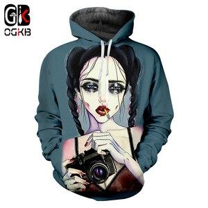 OGKB брендовые толстовки для мужчин/женщин с забавным принтом для девушек, для курения, 3D толстовки с капюшоном для камеры, повседневный пулов...