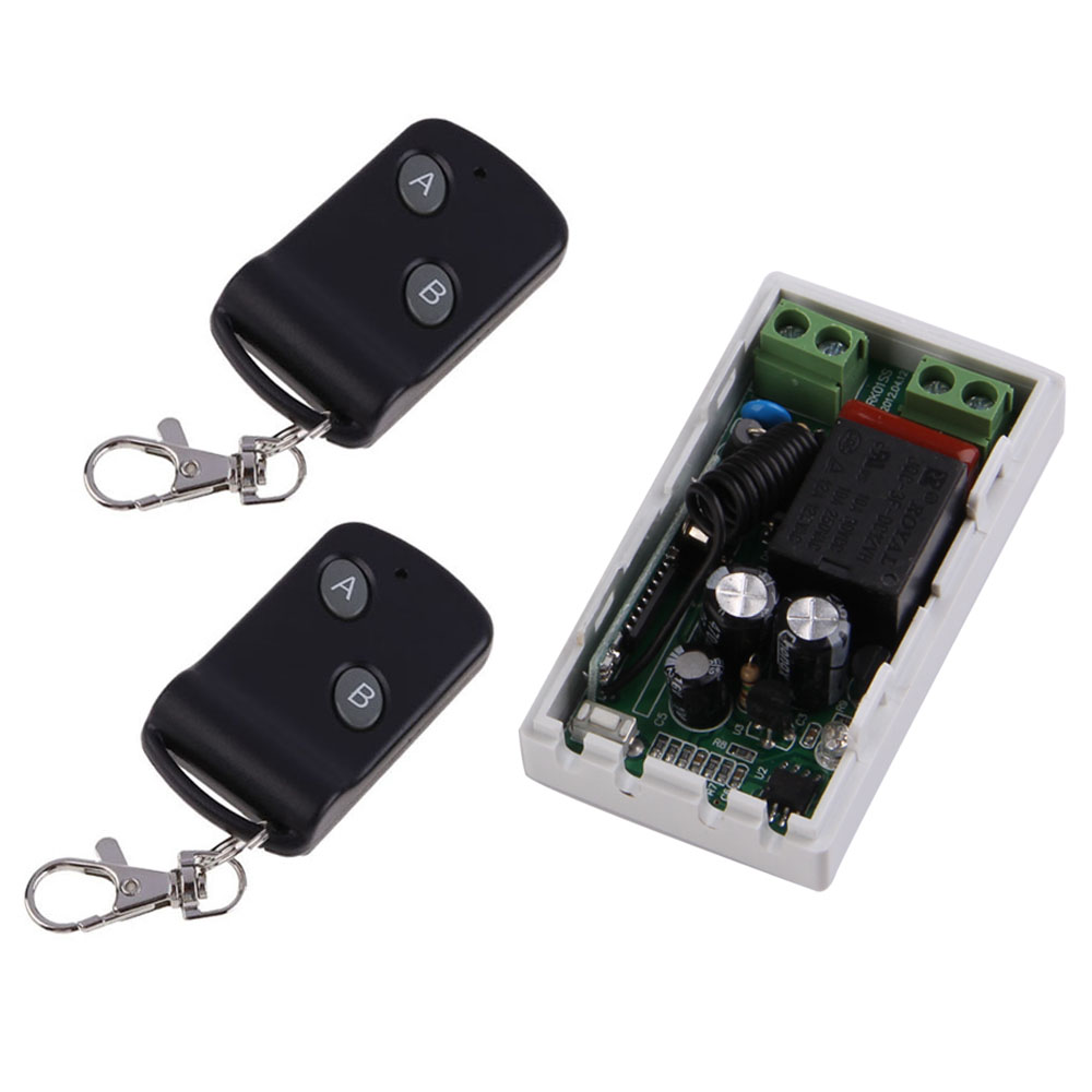 315MHz Wireless AC220V 1CH 2 Buttons Transmitter Receiver + 2 Remote Control Switch Module Controllers RF Transceiver drf4431f13 433mhz 13dbm rf wireless transceiver module