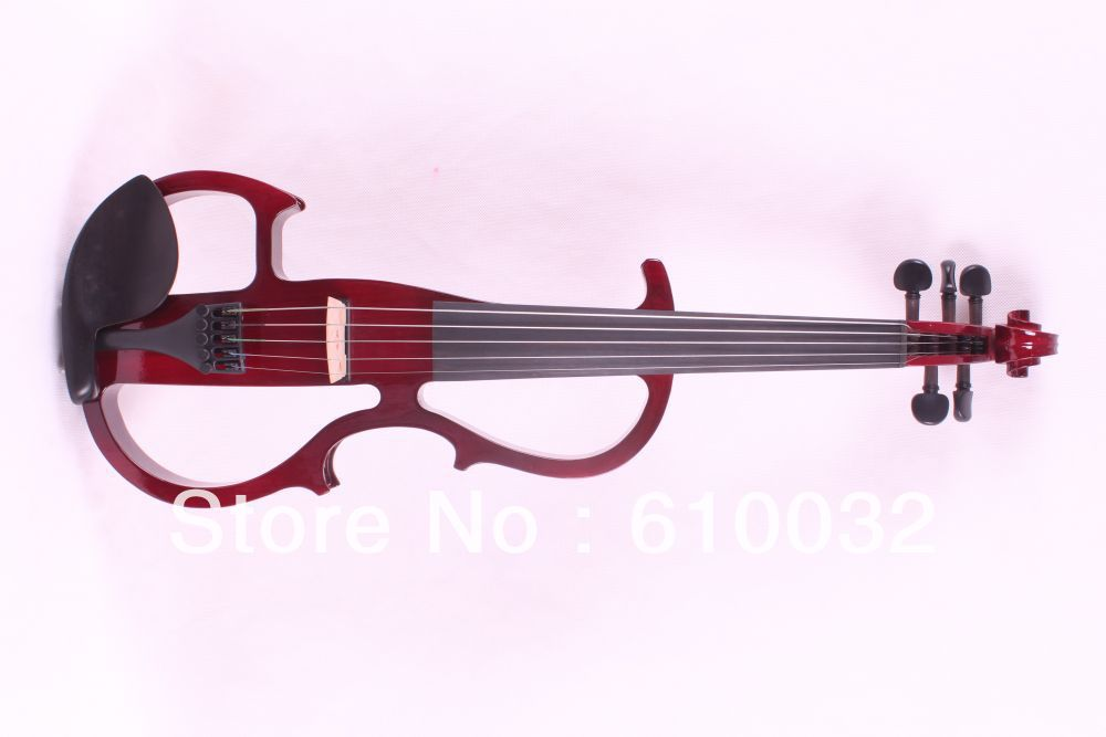 5 strings 4/4 Electric Violin Silent Pickup Fine tone parts include New Golden Color #8-10 red color купить в Москве 2019