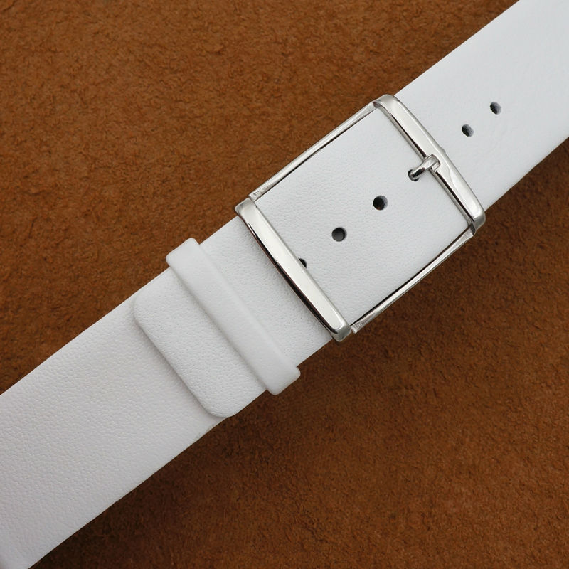 Image 3 - MAIKES New 16mm 18mm 20mm 22mm Genuine Leather Watch Band High Quality Thin White Watch Strap Case For CK Calvin Kleinwatch strap 22mmwatch strap displaywatch bentley -