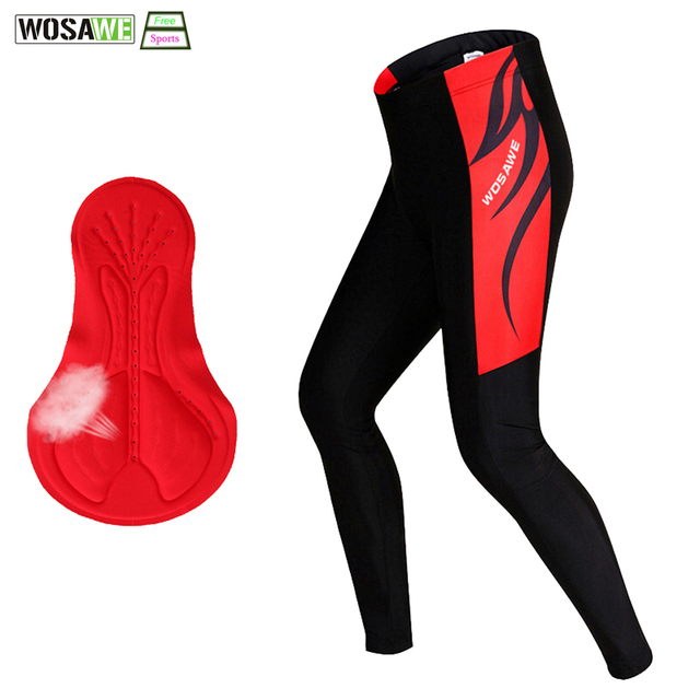 f051ff6dd WOSAWE Brand Men Cycling Pants Professional Downhill Bicycle Trousers  Riding 3D Gel Pad male Cycling Tight MTB Bike Pants