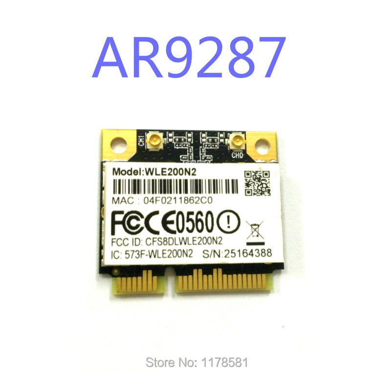 High Power  WLE200N2 / 802.11 N/b/g 2x2 MIMO / Half-Size PCI-Express MiniCard AR9287 16dBm