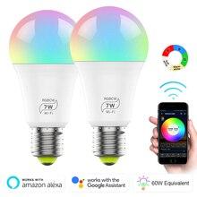 Умная wi-fi-лампочка 6,5 Вт RGB Волшебная осветительная лампа, лампа для пробуждения, совместимая с alexa и Google dropshiper Assistant