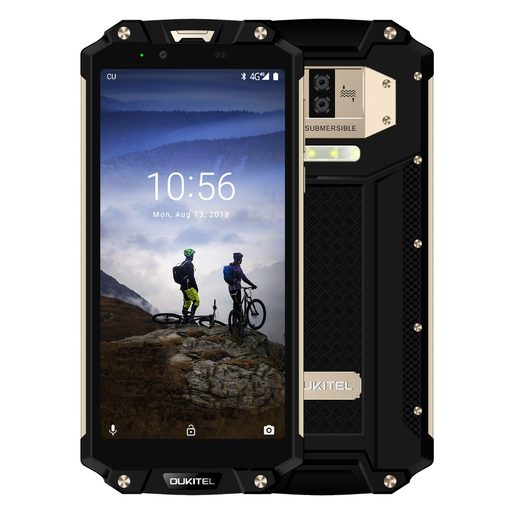 OUKITEL WP2 IP68 Waterproof Dust Shock Proof Mobile Phone 6.0inch 4GB+64GB MT6750T Octa Core Android 8.0 10000mAh NFC Smartphone-in Cellphones from Cellphones & Telecommunications    3