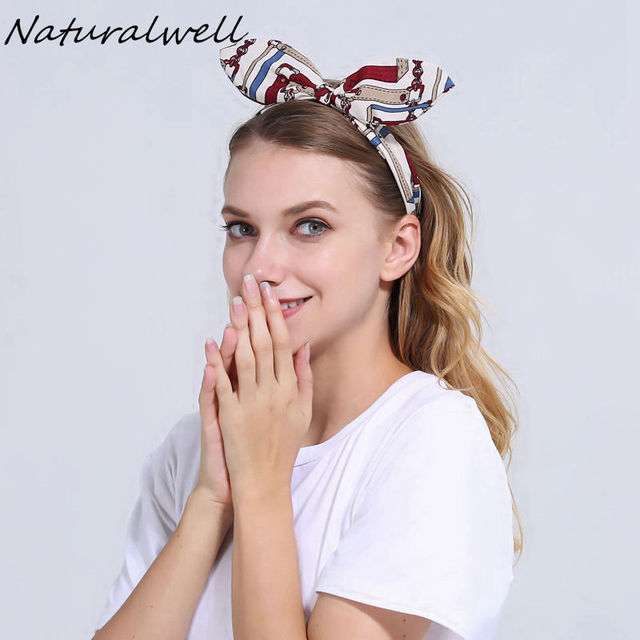 Naturalwell Girls Twist Top Knot Headband Womens Yoga Headbands Adult  Topknot Headwraps Hair Bows Knotted Hair Accessory WH029 6188e765d8d