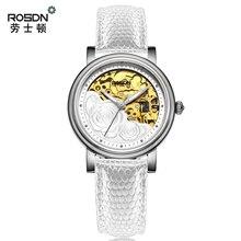 ROSDN 2016 Mechanical leather Watch Women s Waterproof Watch Fashion Brand Luxury Watch Girl Watches Top