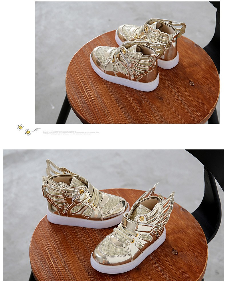 17 Autumn Kids LED luminous Sneakers Glowing Brand Child Breathable Light Flashing Baby Boys Casual Shoes for girl size 21~30 3