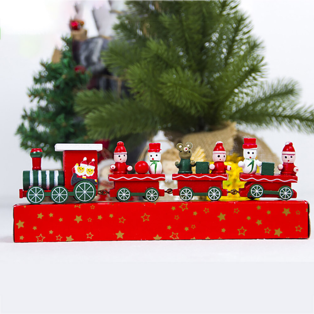 2018 Christmas Decorations Christmas Woods Small Train ...
