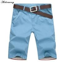New 2015 Summer Fashion Mens Shorts Casual Cotton Slim Bermuda Masculina Beach Joggers Trousers Knee Length