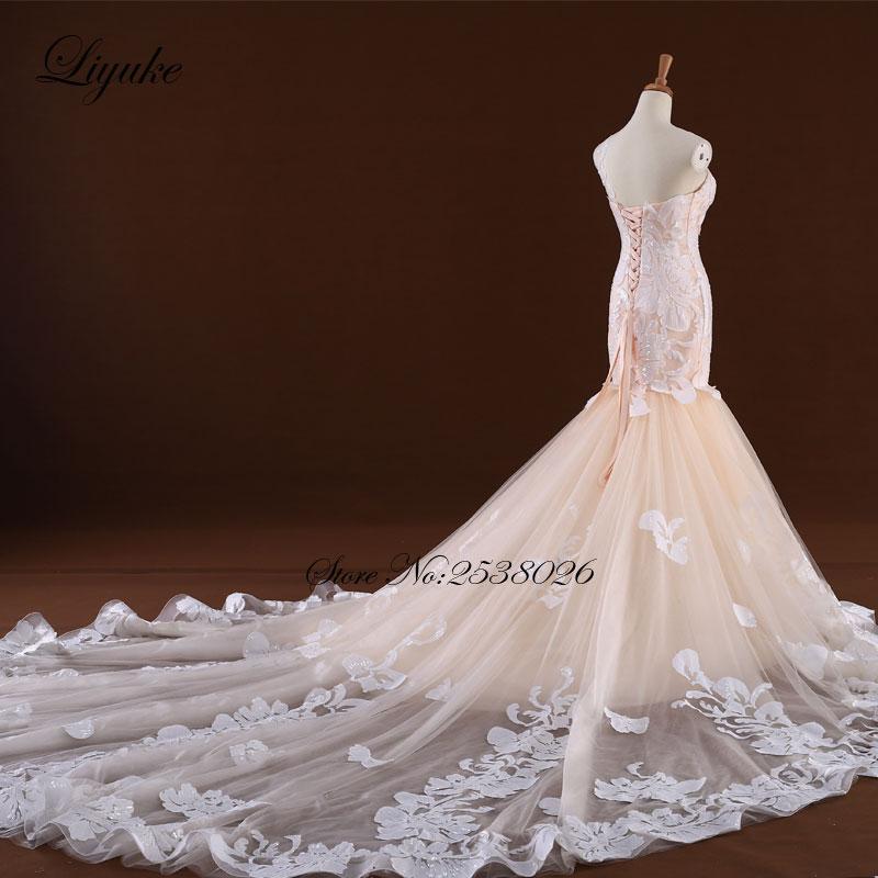 Θαυμάσια Tulle V-Neck Ράφι Backless Γοργόνα - Γαμήλια φορέματα - Φωτογραφία 3