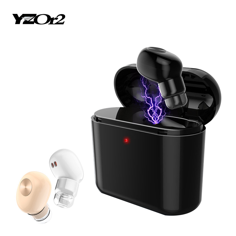 1 Set Mini Invisible Bluetooth Earphone Wireless Headset With MIC Business Earpiece Spy Earbuds for Iphone Sumsung Xiaomi Phone