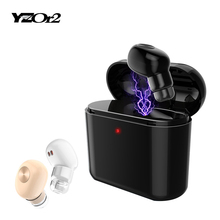 1 Set Mini Invisible Bluetooth Earphone Wi-fi Headset With MIC Enterprise Earpiece Spy Earbuds for Iphone Sumsung Xiaomi Cellphone