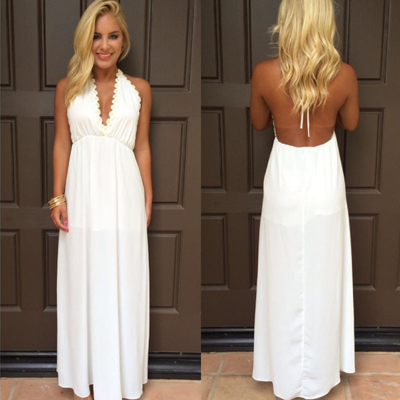 Collection Boho Long White Dress Pictures - Reikian