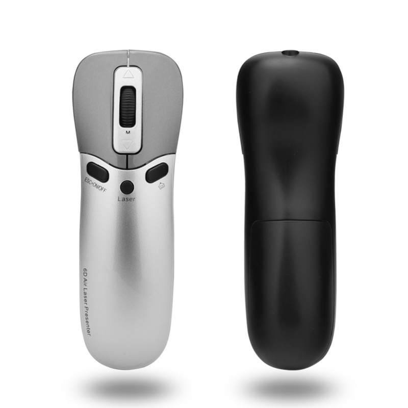 New 3 In 1 Multifunction 6D Air Mouse + Laser Pointer Pen+Presenter In PPT Teaching,Conference,Speech For PC,Smart TV,Laptop