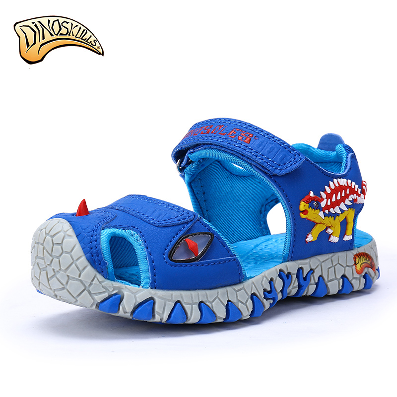 glowing sneakers LED boys sandals 3D dinosaurs children summer shoes cut out non-slip boys beach shoes tenis infanti luminous