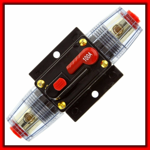 Best Offers Car Audio Circuit Breaker Fuse Holder 100A Amp Amplifier AGU Style 12V
