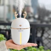 450ml Air Humidifier Portable Ultrasonic Silent Cute Deer USB Aroma Essential Oil Diffuser Lamp Home Car Office Air Purifier цена и фото