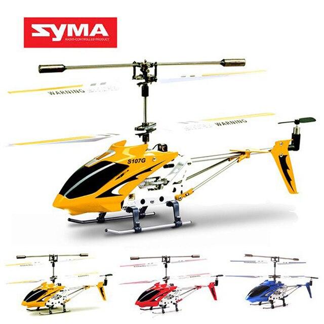Оригинал Syma S107G 3CH Вертолет Дистанционного Управления Сплава Вертолет с Гироскопом Лучшей Toys Подарок RTF Oversea Склад