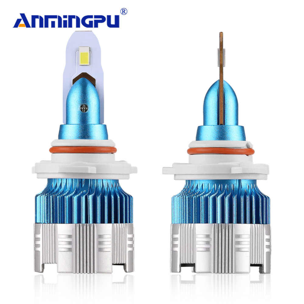 Anmingpu 2x Mi2 9005 9006 LED Headlight Bulbs H4 LED H7 H1 H3 6000K 50W 8000LM 9005/HB3 9006/HB4 H8 H9 H11 Auto Fog Headlamp 12V