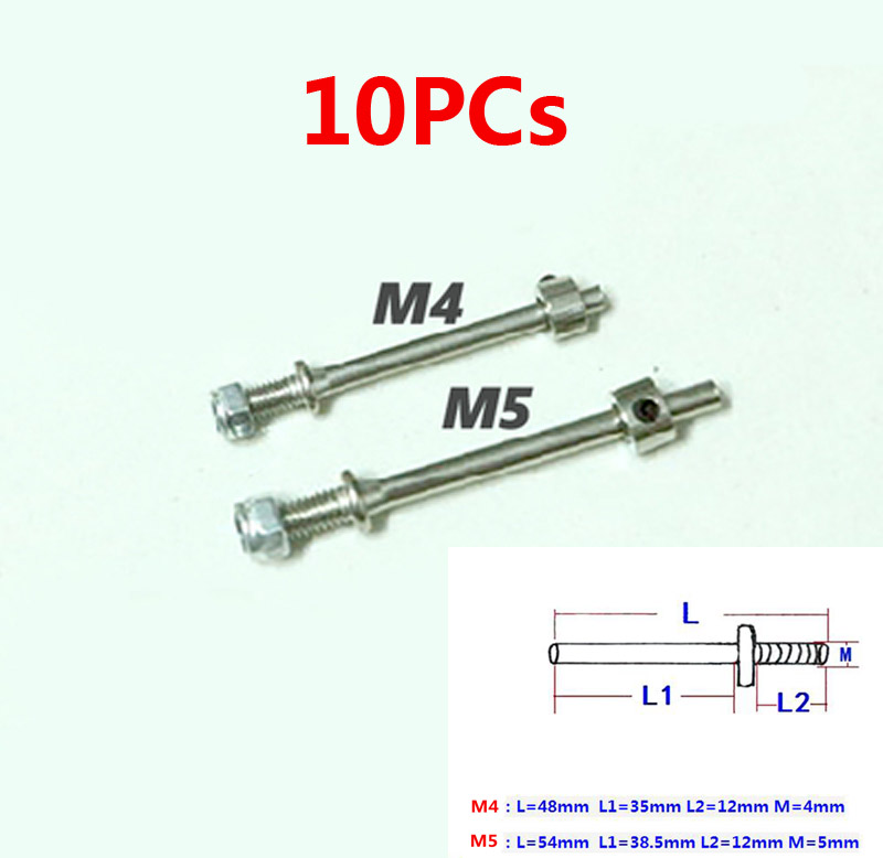 10x Large Marine Grade Stainless Steel Eye Bolts M10 x 200mm