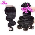 Malaysian virgin hair with closure malaysian body wave 3pcs hair extension with 1pc Lace closure 4x4 free,middle part hair weave