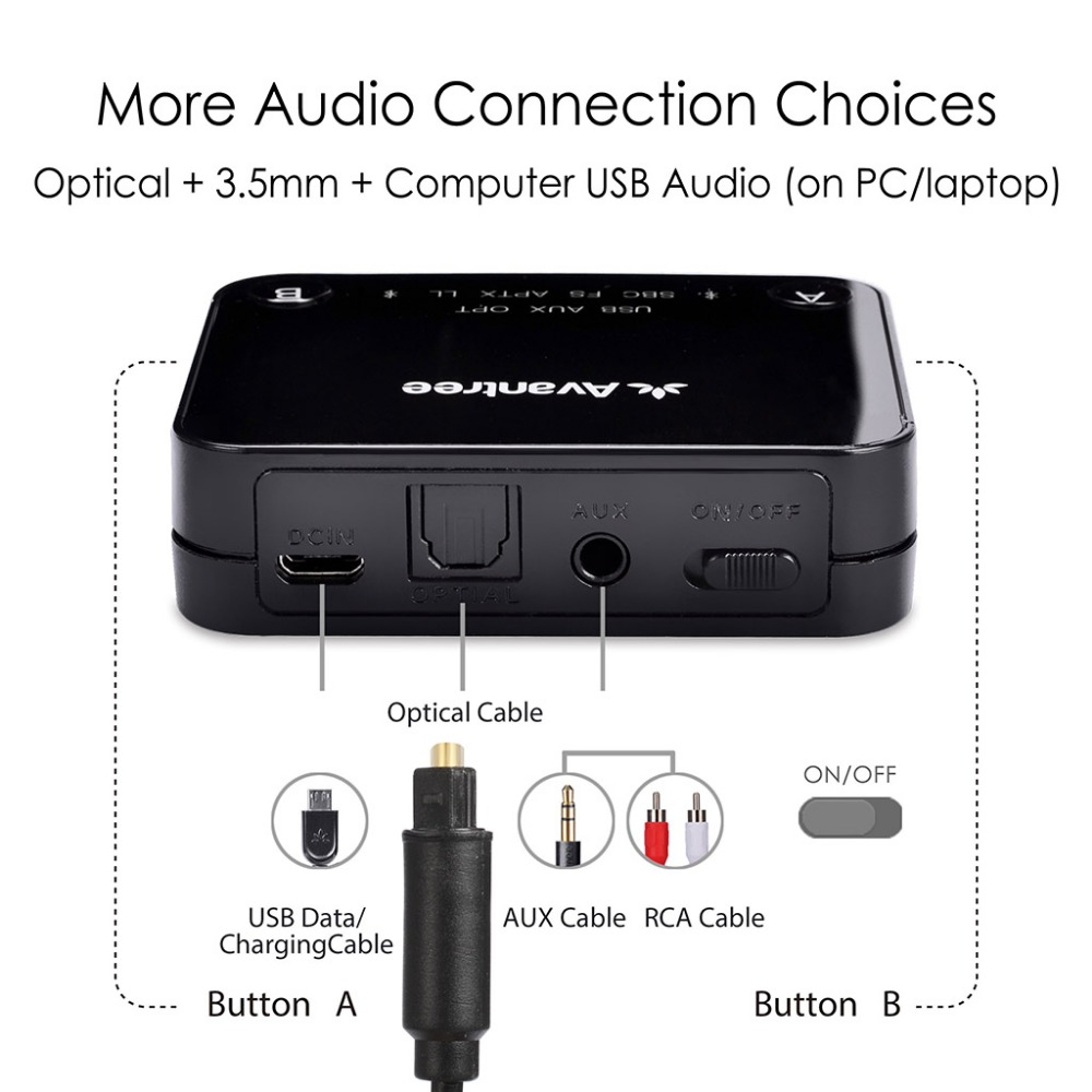 Image 4 - Avantree Dual Link aptX Low Latency supported transmitter with LED, TX Bluetooth Transmitter for TV Bluetooth Audio Adapter-in Wireless Adapter from Consumer Electronics