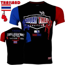 VSZAP Fitness T-shirt Short-sleeved Muay Thai T shirts UFC Fight Fighting Comprehensive Sportswear Martial Arts Men Bodybuilding