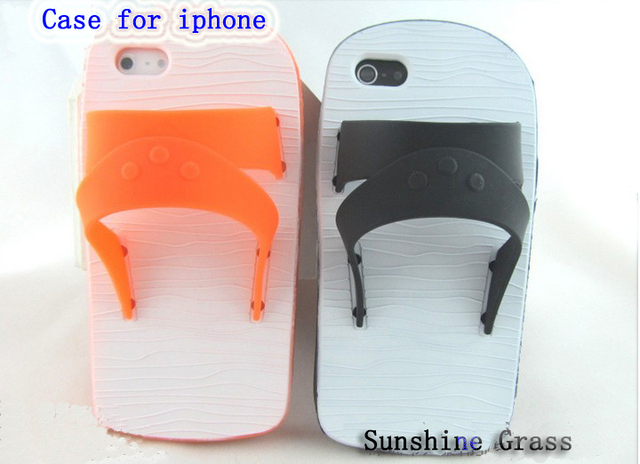 New arrival Free shipping fashion slippers silicon cell phone case for iphone 5 individualized cell phone case for iphone 5