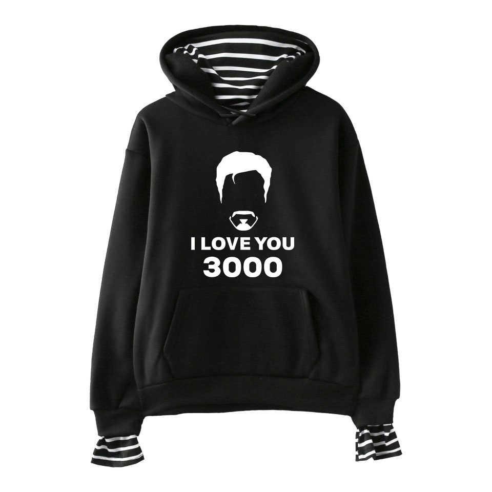 Aku Mencintaimu 3000 Cetak Nyaman Fashion Palsu 2 Buah Hoodies Sweatshirt Populer KPOP Street Keren Hip Hop Kasual Dasar hipster