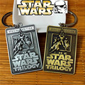Star Wars The Force Awakens 2 colors Metal Keychains Square shape special edition talisman For Man's Fancy gift ZKSWTO