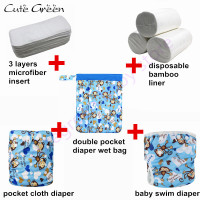 Baby Cloth Diaper Reusable Nappies Waterproof Swim Diaper Pool Pant For Baby Swimming Diaper Insert Washable