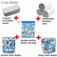Baby Cloth Diaper Reusable Nappies Waterproof Swim Diaper Pool Pant For Baby Swimming Diaper Insert Washable