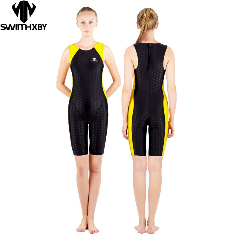 HXBY swimwear women one piece tri suit competition racing swimwuit ironman triathlon suit sharkskin female training suit