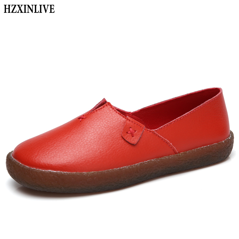 HZXINLIVE 2018 Summer Flat Shoes Women White Flats Loafers Shoes for Women Ladies Casual Platform Female New Fashion Footwear women flat platform loafers shoes 2018 new brand women leather casual platform shoes for ladies new fashion flats shoes women
