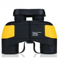 Free Ship High Level 7X50 Rangefinder Nautical Waterproof Shockproof Floating Binoculars Navigation Telescope With Rangefinder